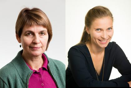 Head shots of the Fulbright Arctic Initiative Scholars 2018 Soili Nysten-Haarala and Daria Gritsenko