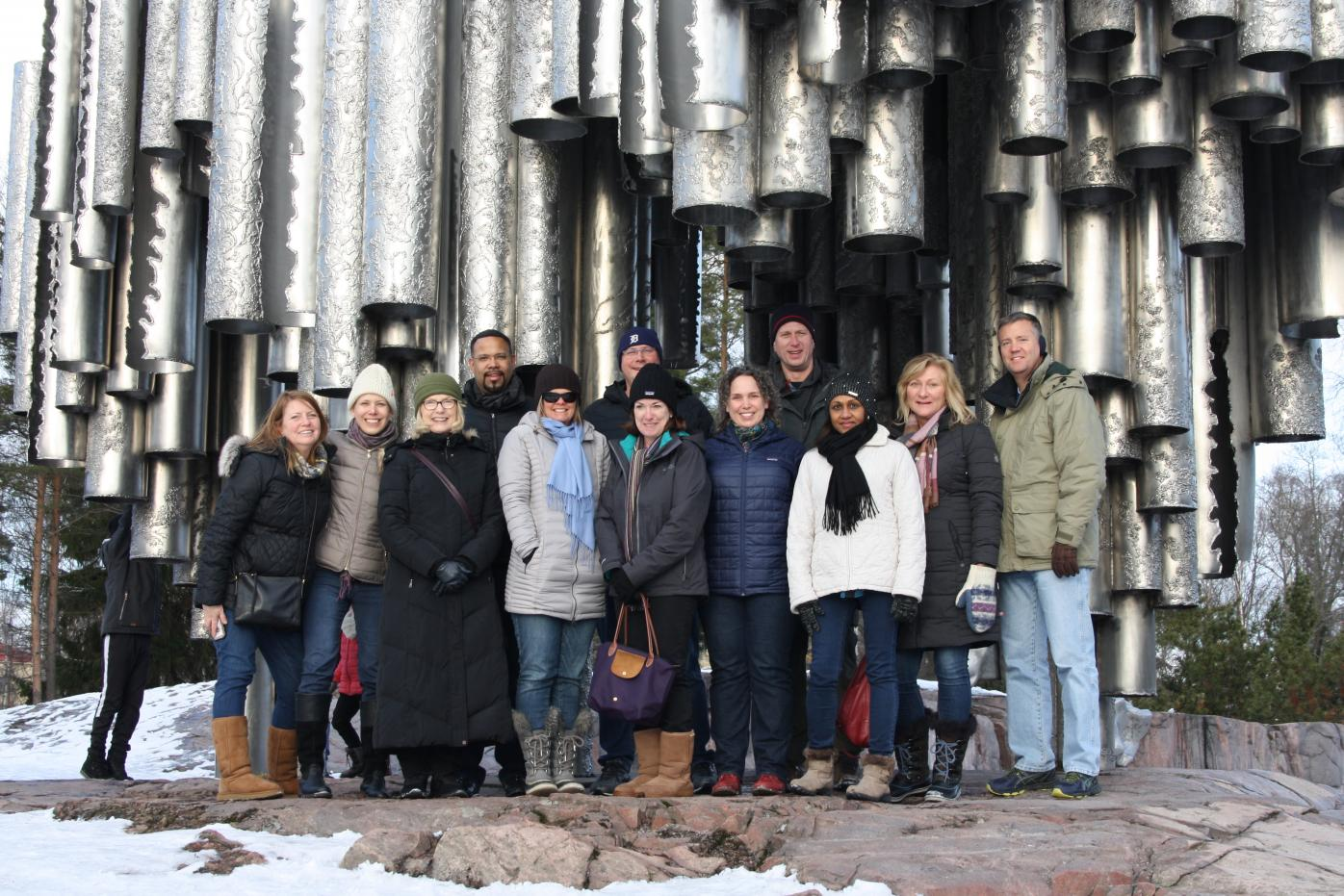 FLGS program participants in Finland at the Sibelius Monument