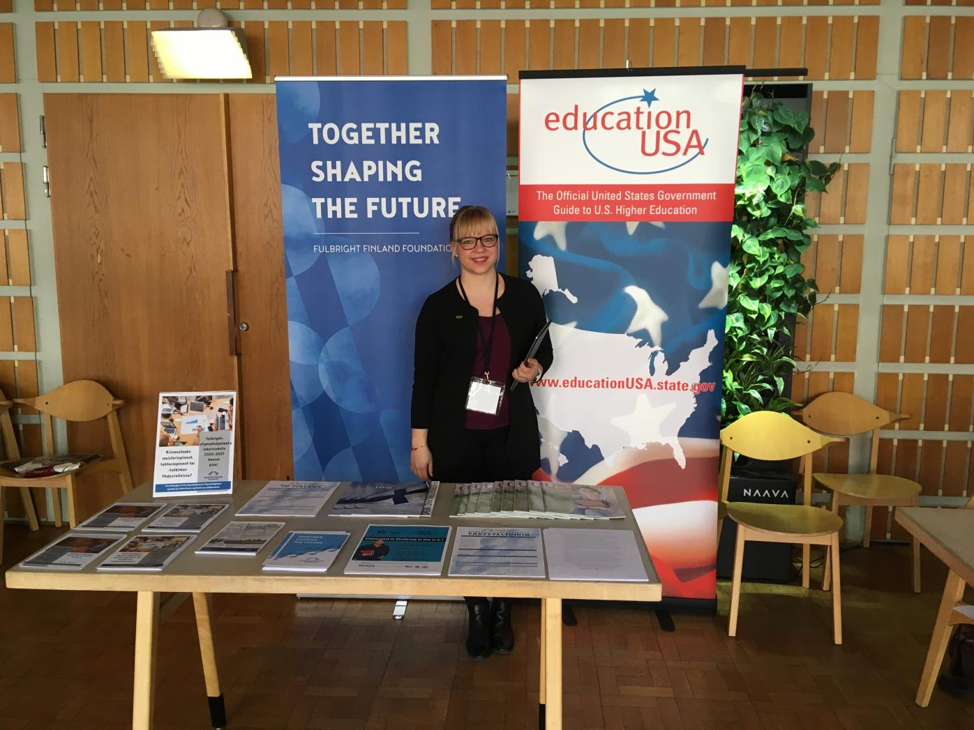 Program Assistant Inari Ahokas at Hanken Exchange Fair 2019