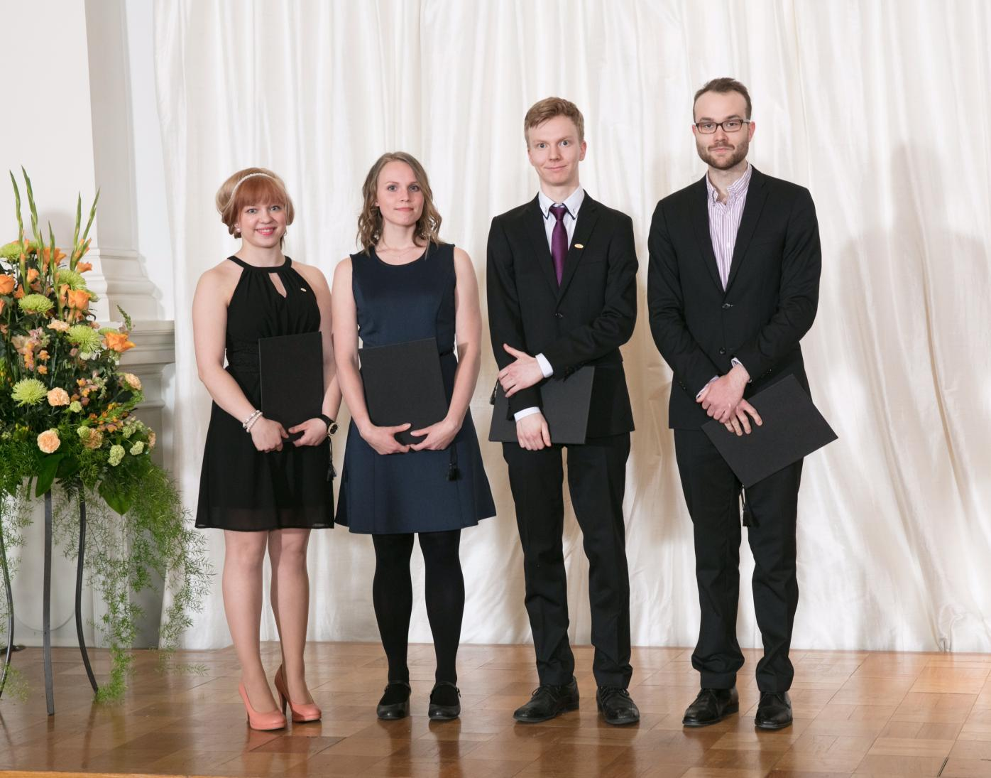 2017 Fulbright Finland Study of the U.S. Institutes for Student Leaders from Europe grantees with Fulbright Finland Underdraduate grantee at the Award Ceremony
