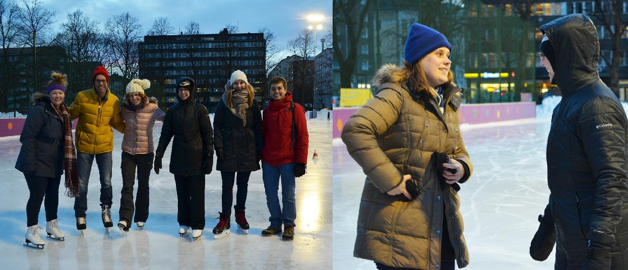 Fulbright Finland Alumni and 2016-2017 U.S. Fulbrighters ice skating