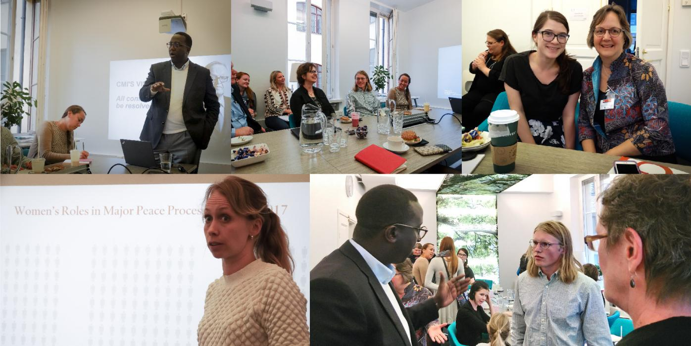 ASLA-Fulbright Alumni Association members and 2018-2019 U.S. Fulbrighters visiting Crisis Management Initiative