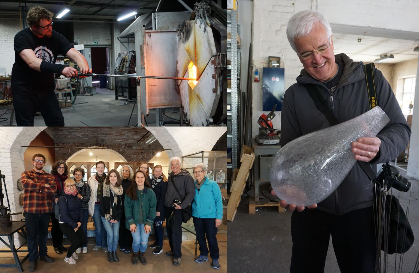 Photo Collage of ASLA Fulbright Alumni Association Visit to Nuutajärvi Glass Village in May 2019