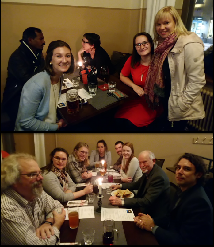 2018-2019 U.S. Fulbrighters together with Fulbright Finland Alumni in Turku at Fulbrighter Happy Hour