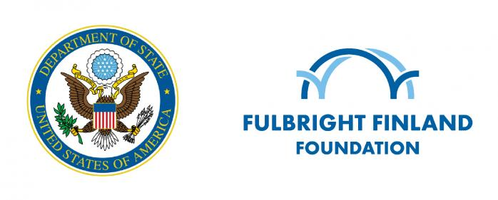 Logos on the Fulbright Finland Foundation and U.S.  Department of State