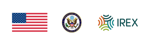 U.S. Flag and Seal and IREX logo