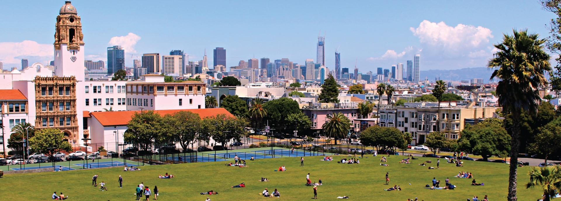 Picture taken in Mission Dolores Park, SF by Silja Pitkänen