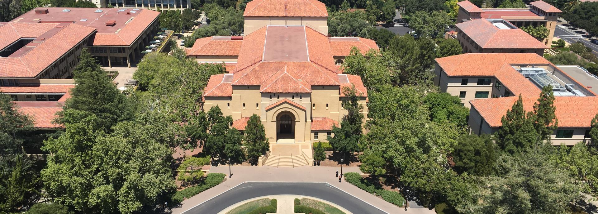 A photo of Stanford University campus in the U.S.