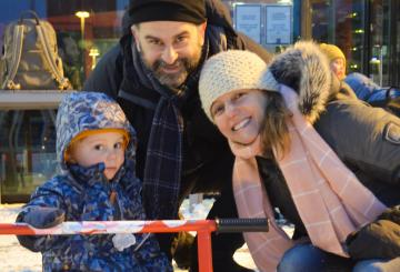 U.S. Family Ice-Skating in Finland