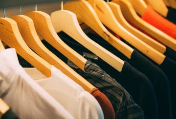 Clothing on a hanger