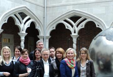 Alumni Affairs study tour participants at the University of Richmond
