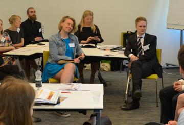 Fulbright Finland grantees to the U.S. at Pre-Departure orientation